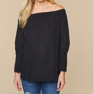 Motherhood Maternity Black Off Shoulder Top Large